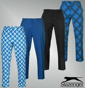 Mens-Slazenger-Standard-Fit-Stylish-Print-Golf-Trousers-Sizes-Waist-32-40