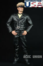 1/6 Men Leather Jacket Set For Negan T-800 Arnold Hot Toys Phicen Figure U.S.A.