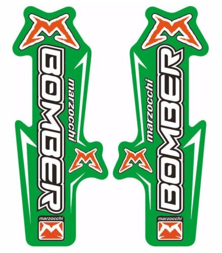 Suspension Graphic Decal Kit Sticker Adhesive Set Green Marzocchi Bomber Fork