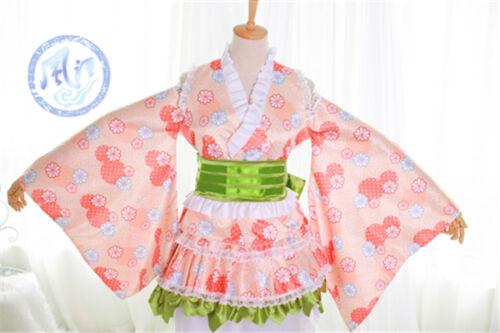 Love Live School Idol Project Minami Kotori Cosplay Costume Pink Kimono Bathrob