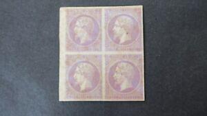 Bloc-de-4-Essai-Napoleon-25-ct-sur-Papier-Carton-Violet-Fonce-Neuf
