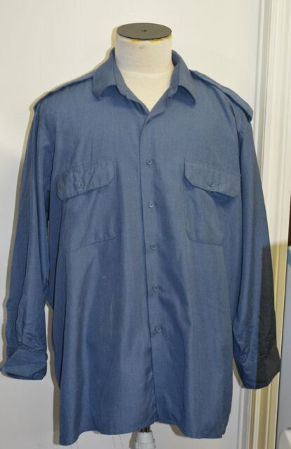 Canadian forces navy blue shirt size 17 x 37 ( box#86 )