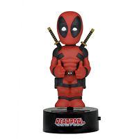Neca Marvel Body Knocker Deadpool Figure Toys Bobble Head Neca Solar Powered