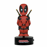 Neca Marvel Body Knocker Deadpool Figure Toys Bobble Head Neca Solar Powered