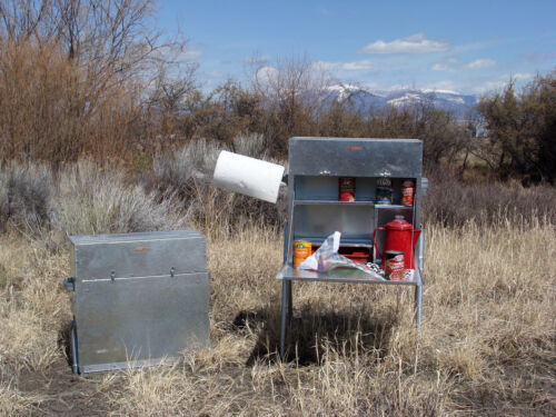 Compact Camp Kitchen NO LEGS Food Box Riley Stoves