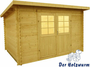 28 mm pultdachhaus gartenhaus ger tehaus schuppen pultdach holz holzhaus ebay. Black Bedroom Furniture Sets. Home Design Ideas