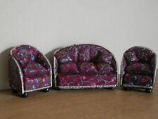 Dollshouse miniature ~ WINE FLORAL~ 1:24 Scale RESIN 3 Piece Suite