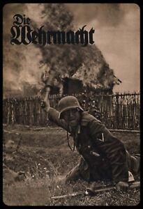 Die-Wehrmacht-Deutscher-Soldat-Russland-Blechschild-Schild-Tin-Sign-20-x-30-cm
