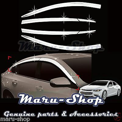 Autoclover Chrome Window Rain Sun Door Visor 6p for Chevrolet Malibu ... 8c39a3c7a971