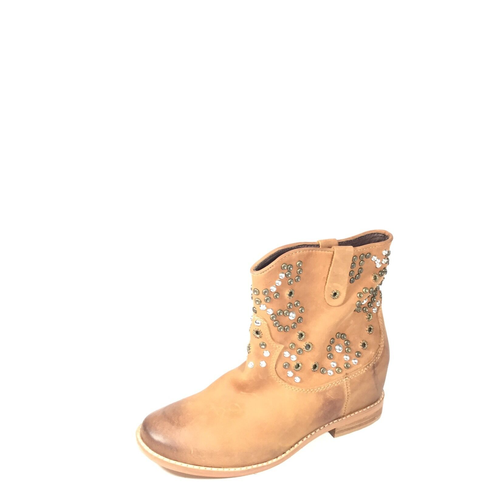 Zigi Girl Truffle Women's Size 7.5 Brown Leather Ankle Boots.