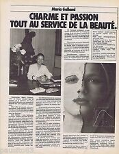 PUBLICITE ADVERTISING 095 1981 Maria Galland au service de la beauté
