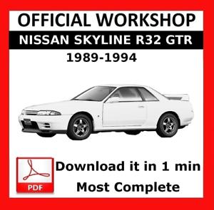 official workshop manual service repair nissan skyline r32 1989 rh ebay co uk nissan gtr r32 service manual nissan skyline r32 gtr workshop manual