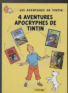 PASTICHE-TINTIN-4-aventures-apocryphes-de-Tintin-Cartonne-80-pages-n-blanc