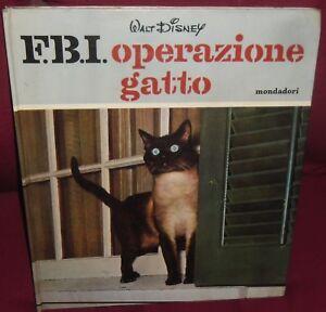 Libro Vintage Book Mondadori Anni 60 Disneyfbi Operazione Gatto 1
