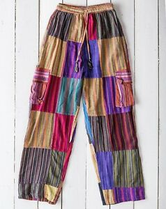 Gringo-Nepalese-Patchwork-Pants-Trousers-Fair-Trade-Festival-Baggy-Ethnic-Cargo