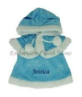 Teddy Bear Clothes Fit Build A Bear Blue Dress With Hooded Cape Personalised