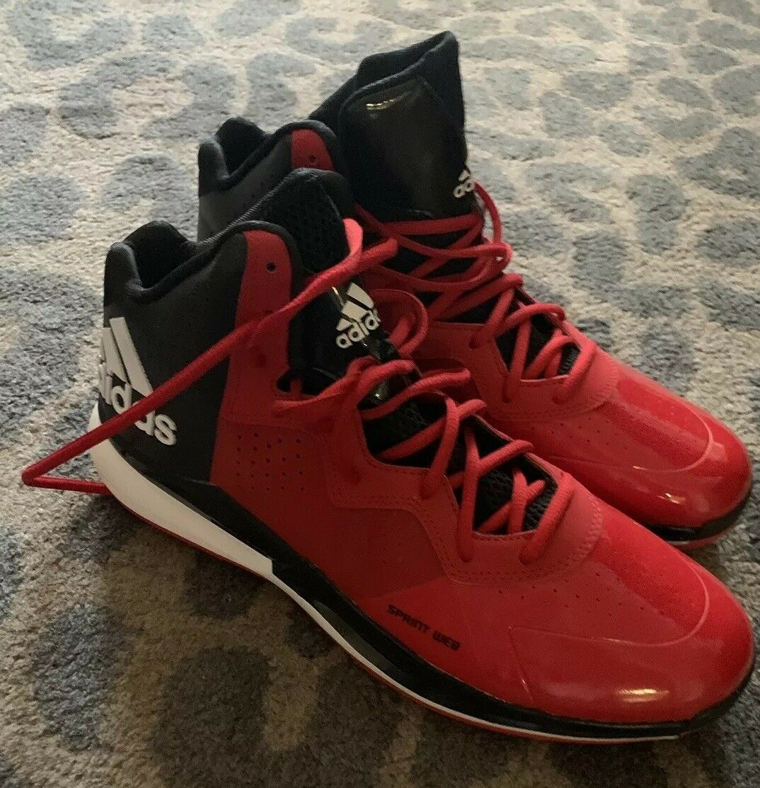 Red Men Adidas Brand New Sneakers Size 12