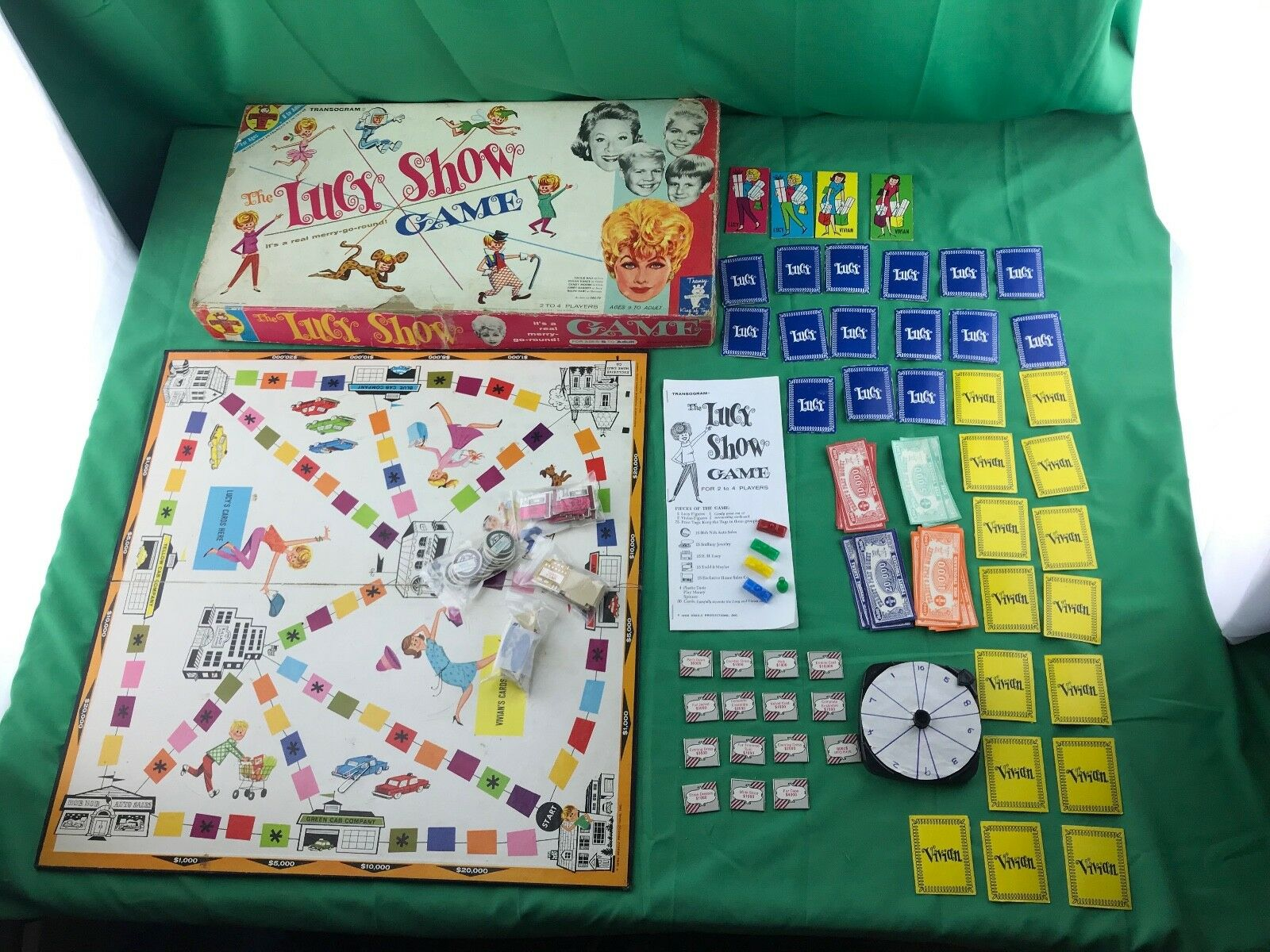 1962 The Lucy Show Board Game Transogram, Lucille Ball