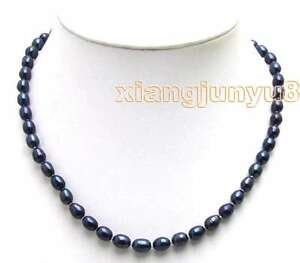 6-7MM-Rice-Black-Natural-Freshwater-Pearl-Necklace-for-Women-Chokers-17-034-nec5591