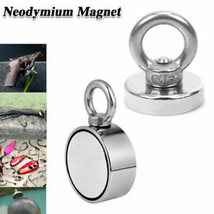 34-700Kg Salvage Strong Recovery Magnet Neodymium Hook Treasure Hunting Fishing