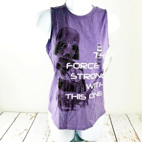 Star Wars NWT Darth Vader Quoted Purple Graphic Tank Top Girls Large L 10//12