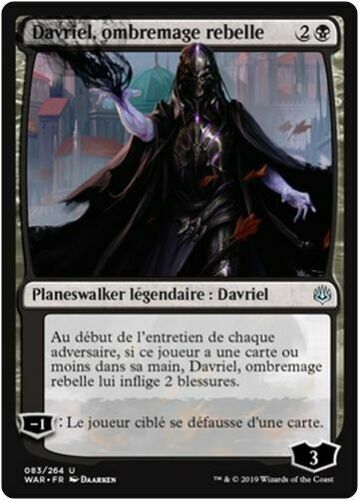 Rogue Shadowmage//ombremage rebelle MTG Magic WAR - x2 French//VF Davriel