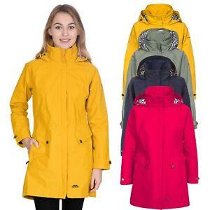 Trespass-Womens-Waterproof-Jacket-Longline-Hooded-Raincoat-XXS-XXXL