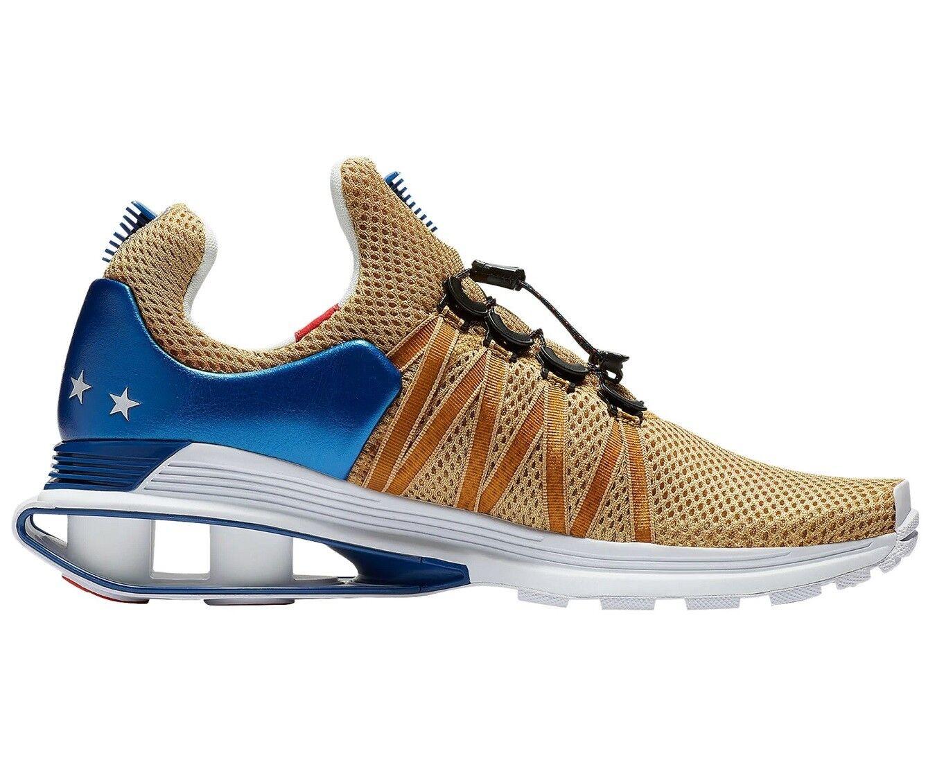 Nike shox gravità Uomo ar1999-700 metallico oro rosso blu scarpe taglia 12