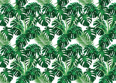8x12 FT Plant Vinyl Photography Backdrop,Watercolor Tropical Palm Leaves Colorful Illustration Natural Feelings Background for Baby Shower Bridal Wedding Studio Photography Pictures