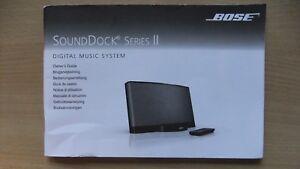 bose sounddock series 2 ii owner s guide instruction book manual rh ebay co uk bose sounddock 10 user guide
