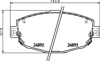 GENUINE BRAND NEW 5 YEAR WARRANTY Mintex Front Brake Pad Set MDB1485