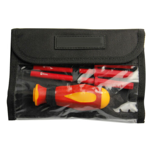 7pc Electricians Insulated Electrical Dual Head Hand Screwdriver Tool Set /& Box