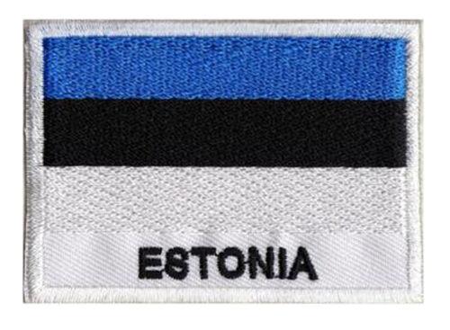 Patch brodé à coudre écusson patche drapeau ESTONIE 70 x 45 mm