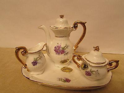 New  Vintage Genuine Miniature Bone China Tea Set Japan