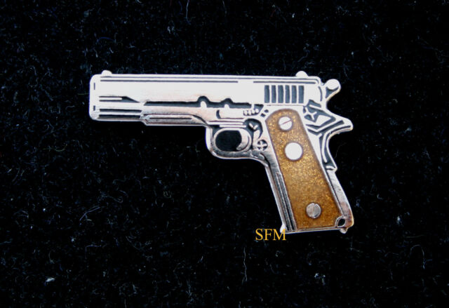 COLT 45 AUTO HAT LAPEL PIN UP GUN RIFLE US ARMY NAVY AIR FORCE MARINES USCG WOW