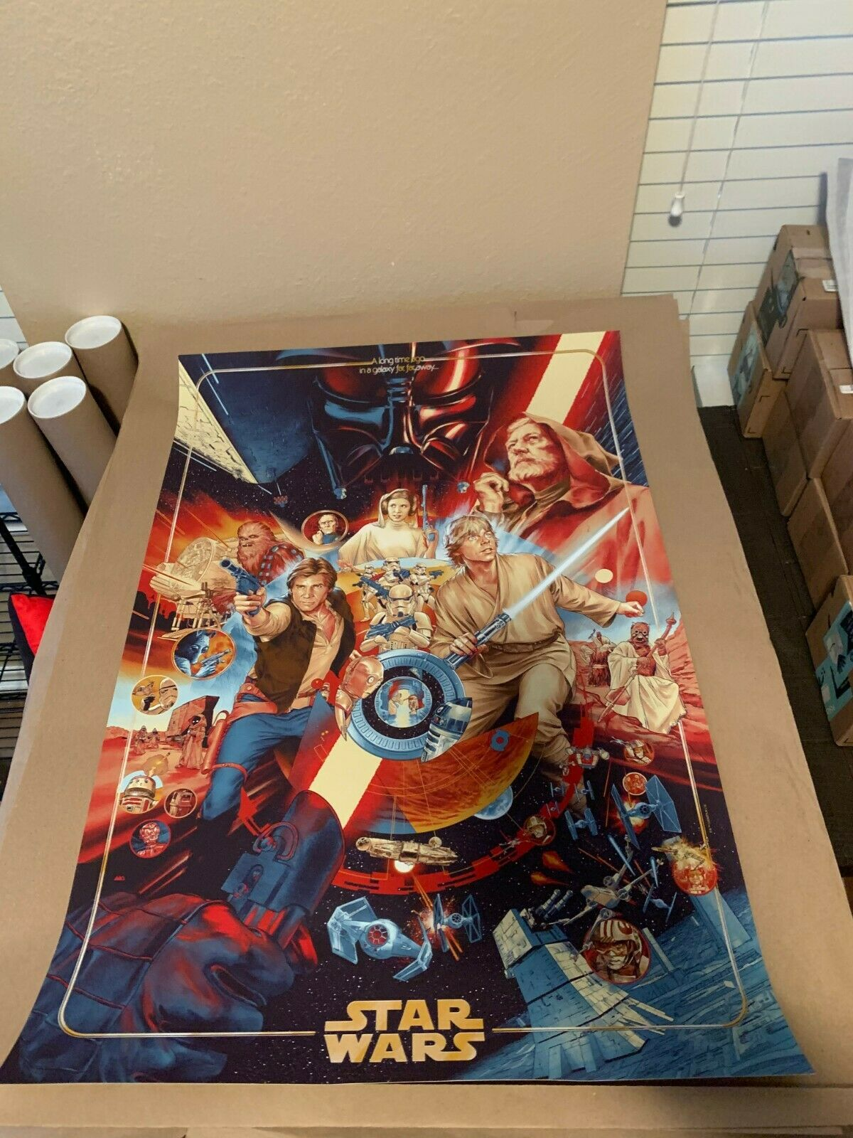 MONDO The Ways Of The Force Star Wars poster By Martin Ansin With COA on eBay thumbnail