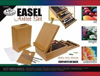 Royal And Langnickel 104-piece All Media Easel Artist Set , New, Free Shipping on sale