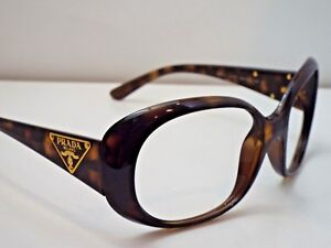 926558fa17 Image is loading Authentic-PRADA-SPR27L-2AU-5Y1-Havana-Sunglasses-Frame-