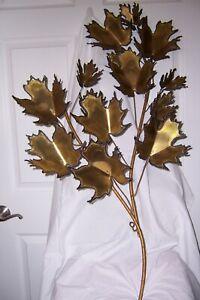 Signed Curtis Jere Artisan House Metal Leaf Branch Wall Art 1981 Ebay