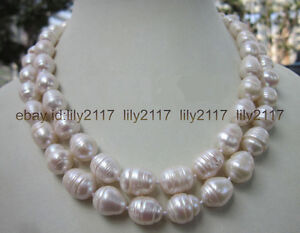 LONG-35-INCH-7-9MM-NATURAL-WHITE-FRESHWATER-Cultured-BAROQUE-PEARL-NECKLACE