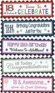 5 BABY/'S FIRST 1ST BIRTHDAY Greeting Card Craft Scrapbook Sentiment Banners