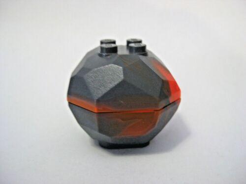 Gray//Orange Marbled Lego ROCK Boulder Complete Assembly 30293 30294