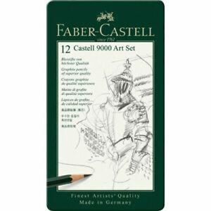 CASTELL-9000-GRAPHITE-PENCIL-ART-12PC-TIN-SET