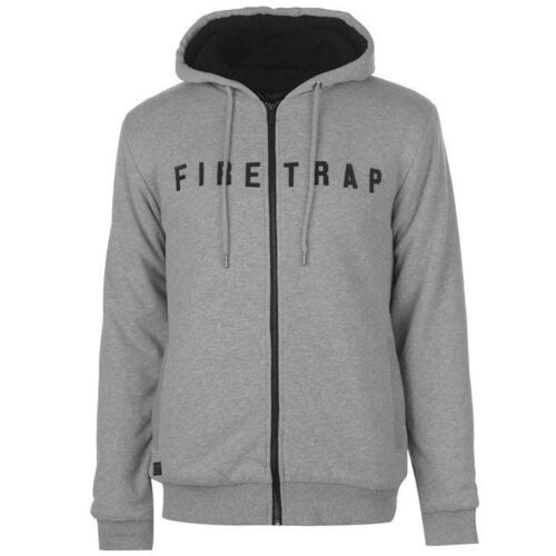 large Mens Firetrap Large Fleece Rrp Zipped £60 Thick To Lined Xx Hoodie OXpWXxzn