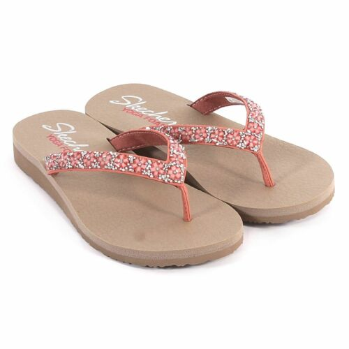 Skechers Meditation Daisy Delight Ladies Womens Toe Post Sandals Flip Flops