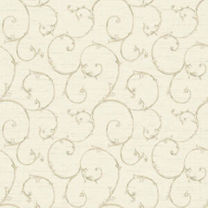 Nantucket-Small-Decorative-Scroll-Wallpaper-in-Parchment-by-York-NK2149