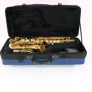 Buffet-Model-400-Professional-Alto-Saxophone-in-Gold-Lacquer-MINT-CONDITION