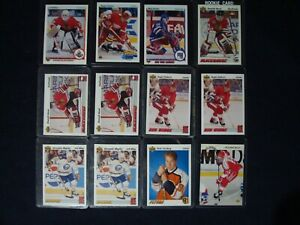 LOT-OF-12-UPPER-DECK-NHL-ROOKIE-CARDS-90-91-amp-OTHER-YEARS-ROOKIE-CARDS