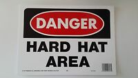 10x14 Danger Hard Hat Area Safety Signs Osha Work Construction Jobsite