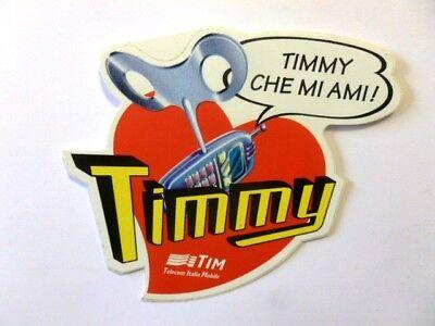 c VECCHIO ADESIVO ORIGINALE Old sticker TIM TELECOM TIMMY cm 15 x 13